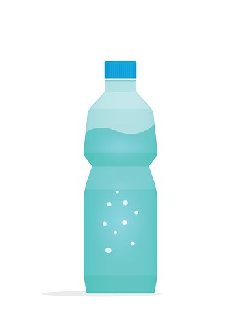 Water bottle plastic vector illustration isolated on white background