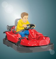 Vector,Boys,Child,Car,Illus...