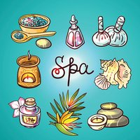 Spa therapy background.