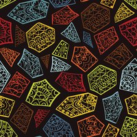 Seamless pattern with ethnic african elements, giraffe texture