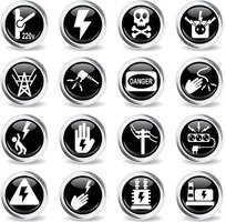 high voltage icon set
