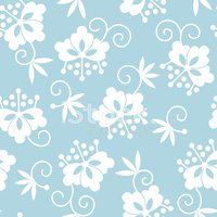 seamless pattern: japanese flowers