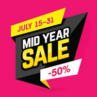 Mid Year Sale banner, poster