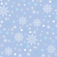 Vector Christmas seamless pattern with snowflakes and stars.
