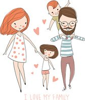 Family,Father,Mother,Illust...