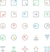 User Interface Colored Line Vector Icons 7