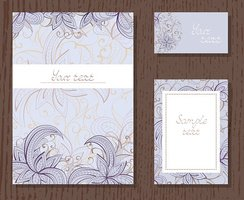 Vector set of templates invitations or greeting cards.