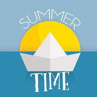 summer time card web icon