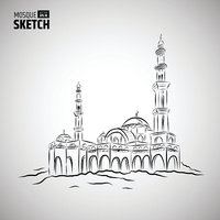 Mosque Sketch Illustration