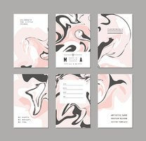 Creative trendy cards. Abstract painting templates