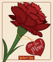 Pretty Red Carnation for Mother's Day