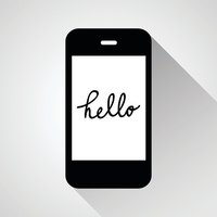 Chatting Hello on Mobile Vector EPS10, Great for any use.
