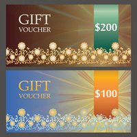 Two Voucher templates with bronze premium pattern
