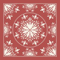 Red Bandana. Marsala trendy color