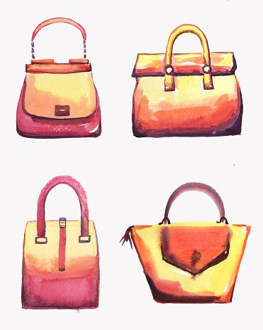 Bags watercolor set