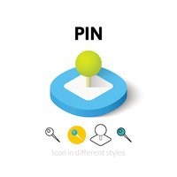 Pin icon in different style