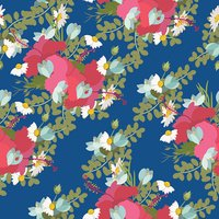 Vector pattern of tropical hibiscus flowers  bunch