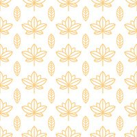 Seamless orange wallpaper with a natural pattern of leaves