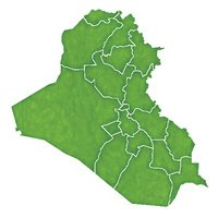 Iraq map country icon