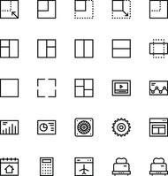 User Interface Line Vector Icons 29