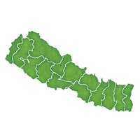 Nepal map country icon