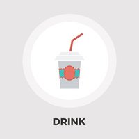 Paper fast food cup flat icon