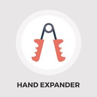 Hand expander flat icon