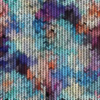 Multicolor knitted pattern