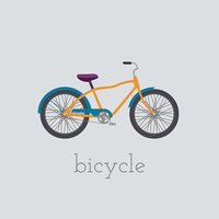Vector bicycle  illustration.  isolated on white background.