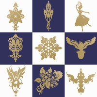 Set of decorative design elements. Vector