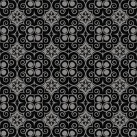 Elegant antique silver and black background 363_round spiral cross flower