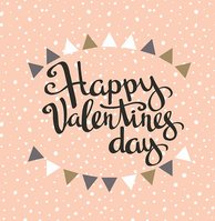 """""""Happy Valentine's day"""" Hipster Vintage Stylized Lettering."""