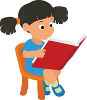 Girl Reading A Clipart Images High Res Premium Images