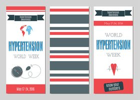 Hypertension Day set of banners