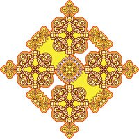 Arabic ornament mandala