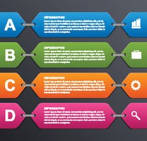 Abstract options infographics template. Design elements.