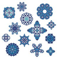 Winter Pattern Elegant floral abstract elements