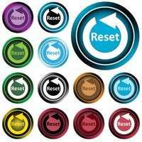 Clipart color icons reset sign