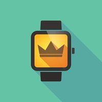 Smart watch with a crown