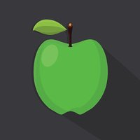 Green Apple Flat Vector