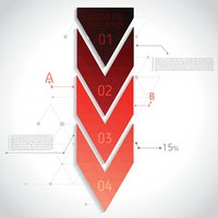 Abstract geometric composition with red triangles