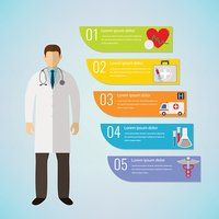 Medical Infographic template. Vector