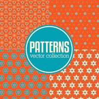 Set of abstract geometric vector pattern backgrounds.