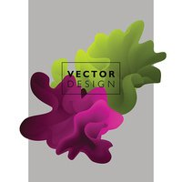 Vector abstract color cloud