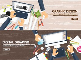 Graphic web design. Drawing and painting. Development. Illustration, sketching, freelance