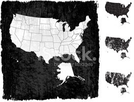 USA,Map,Dirty,Grunge,Cartog...