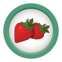 Strawberry colorful icon