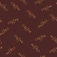 Vector illustration simple seamless background with lettering coffee