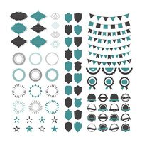 Collection of premium design elements. Set of geometric shapes