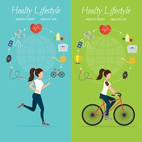 Healthy lifestyle vector set